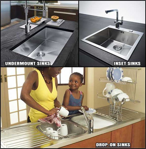 Difference Between Inset Drop On Sinks And Undermount