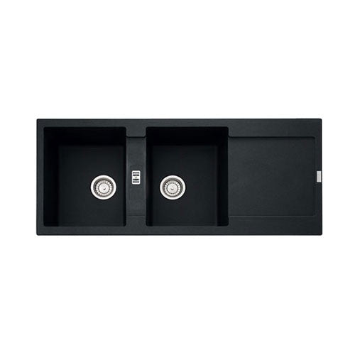 Franke Black Kitchen Sink: Franke Maris MRG621 Onyx Inset Sink