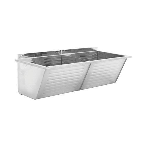 Franke ET102 Fabricated Double Wash Trough   Laundry Sink 2560005