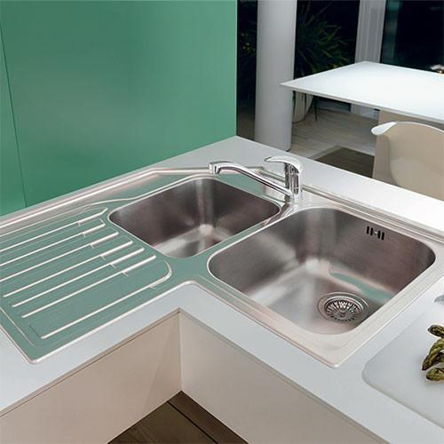Drip Rail Kitchen Sink