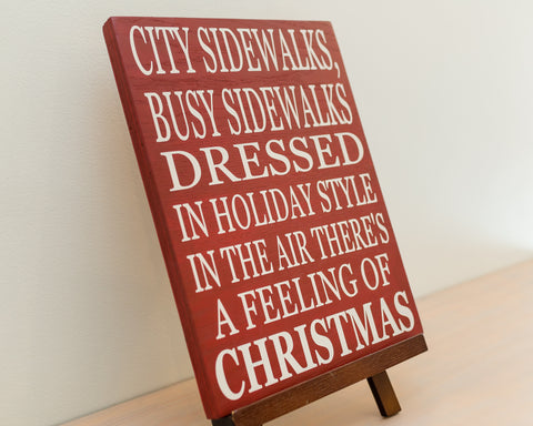 Silver Bells Christmas song wood sign – Iris Lane Designs