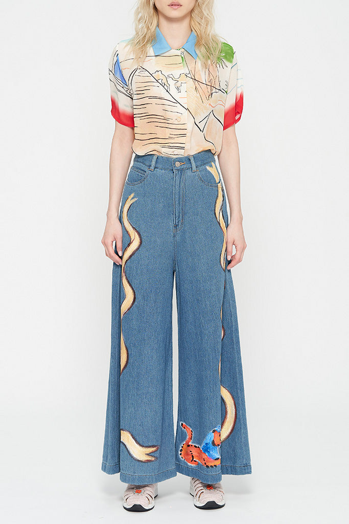 Painted Egypt Denim Pants