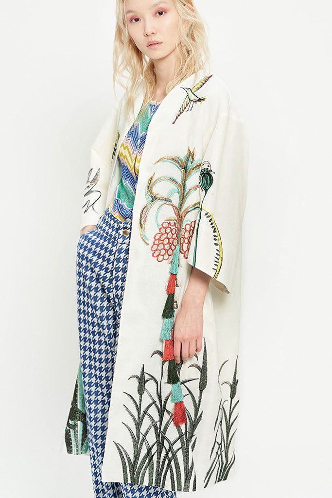 Summer Embroideries Coat