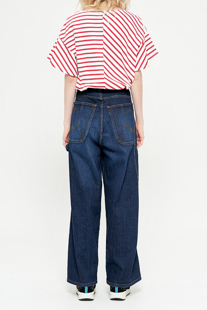 O&O Wide Blue Denim Pants