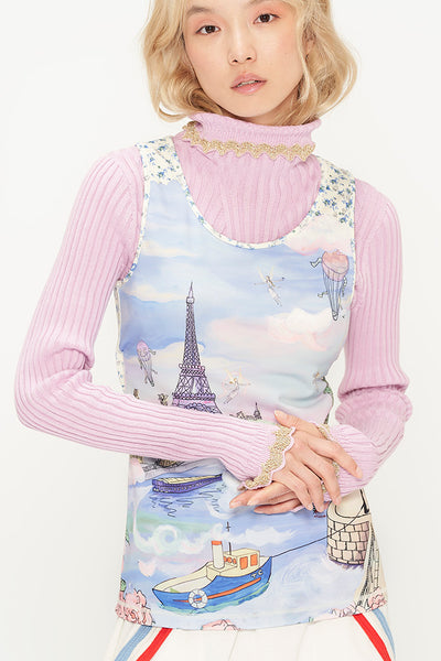Romantic Paris Tank Top