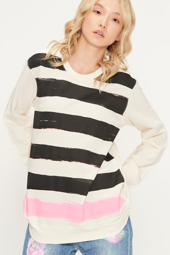 Hand Painted Stripes Sweatshirt