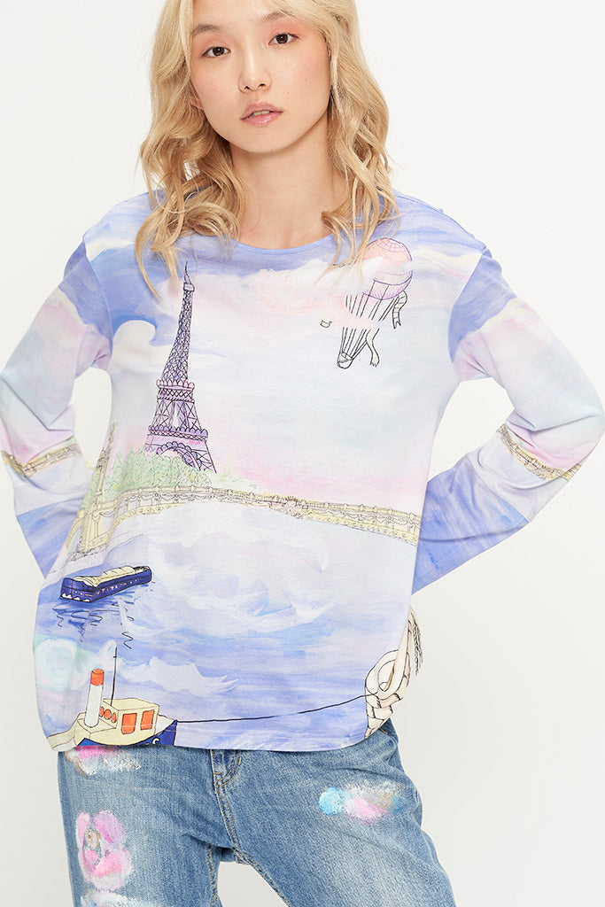 Romantic Paris Long Sleeves T-Shirt