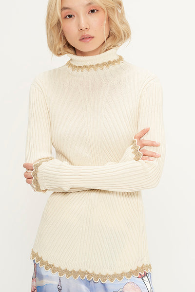 Wholegarment Roll-Neck Sweater