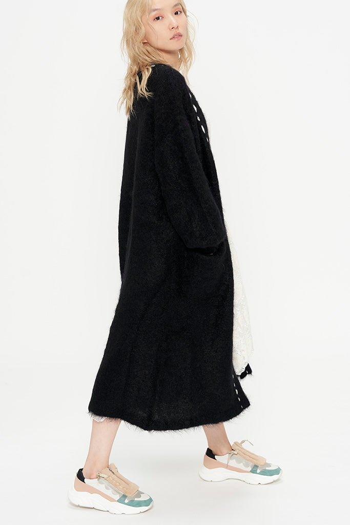 Mohair Soft Knit Long Cardigan