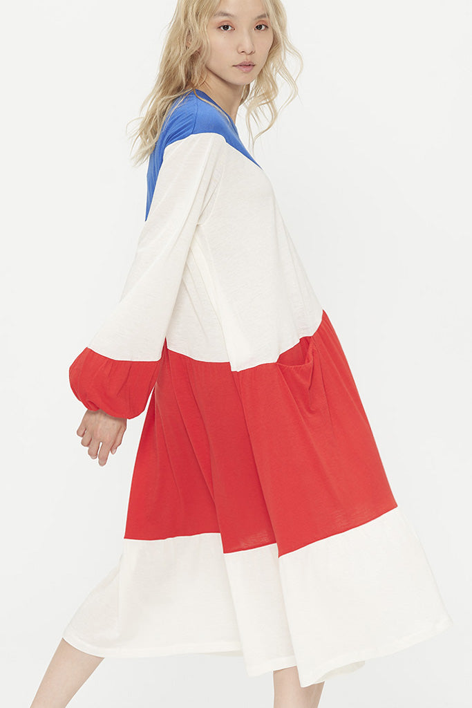 Bleu Blanc Rouge Jersey Dress