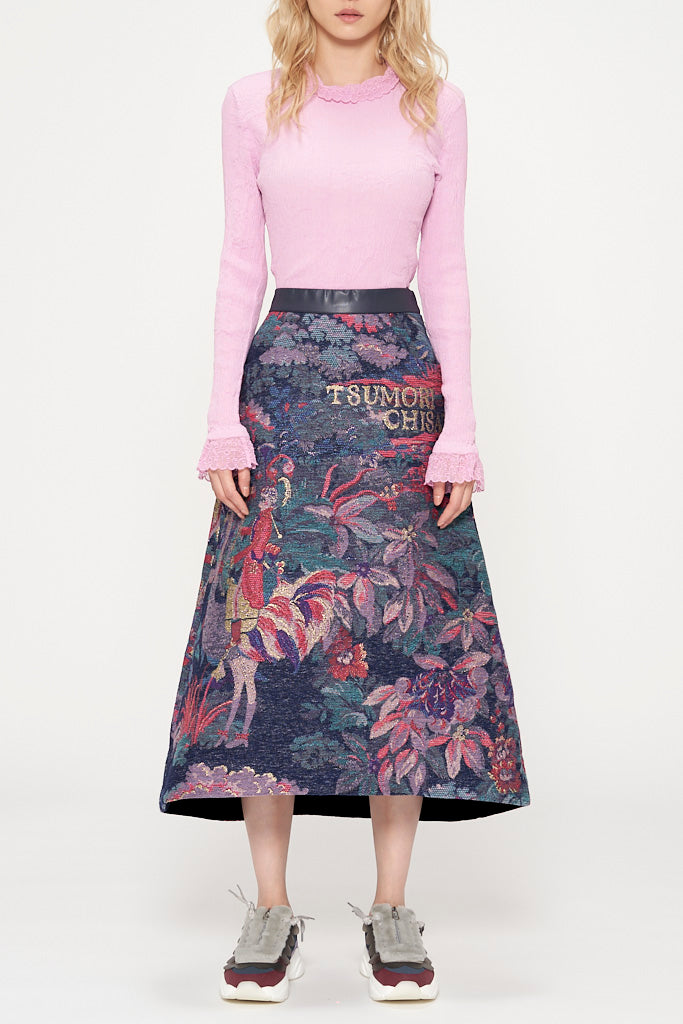 Noble Garden Jacquard Skirt