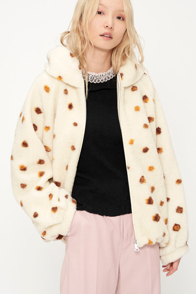 King Dot Fur Jacket