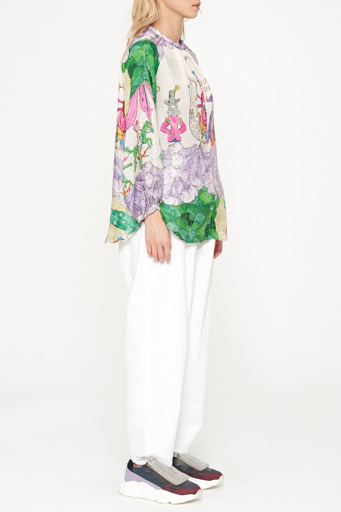 Noble Garden Silk Blouse
