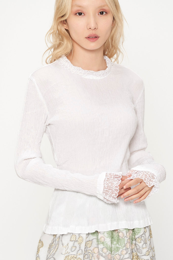 Lace Crepe Shirt