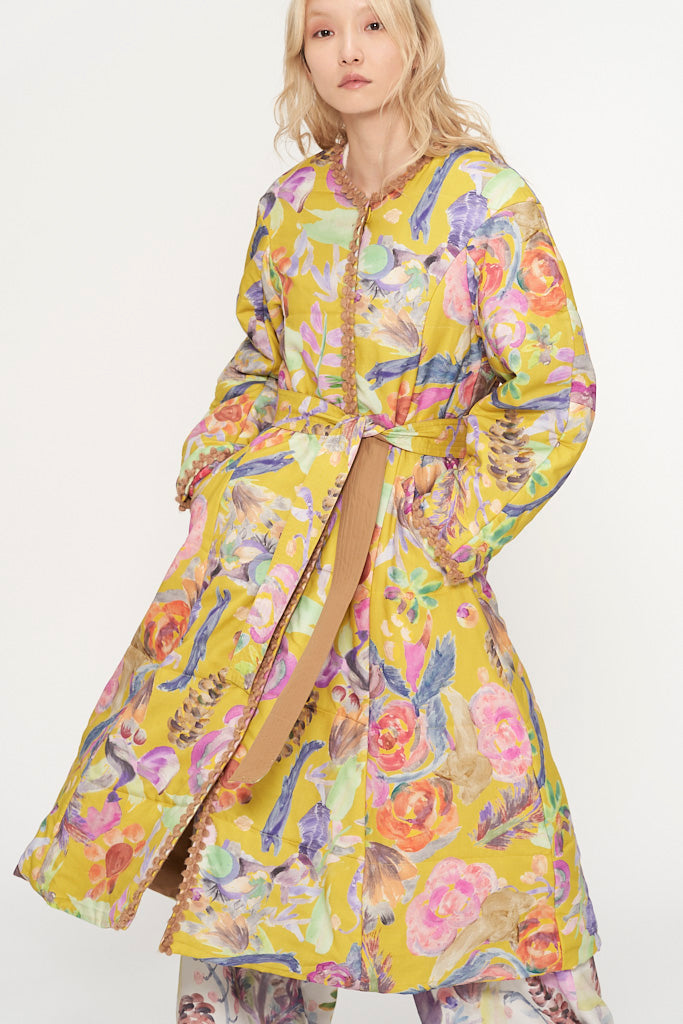 Watercolor Flowers Coat