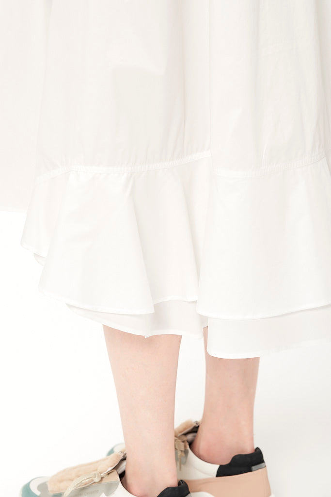 Long pleated Shirt Dress