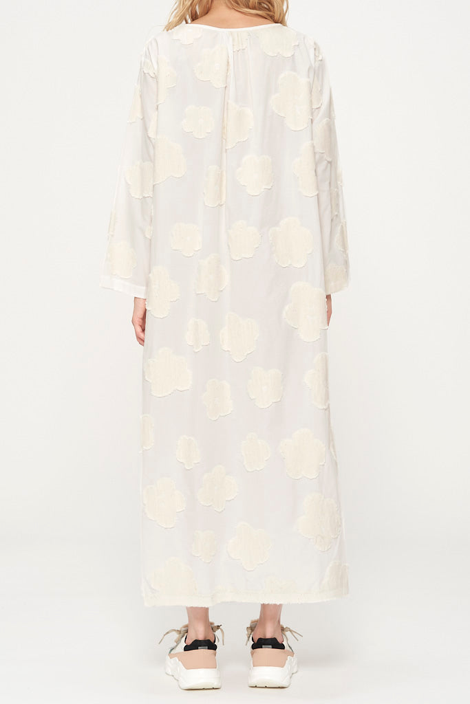 Fluffy Flower Jacquard Dress