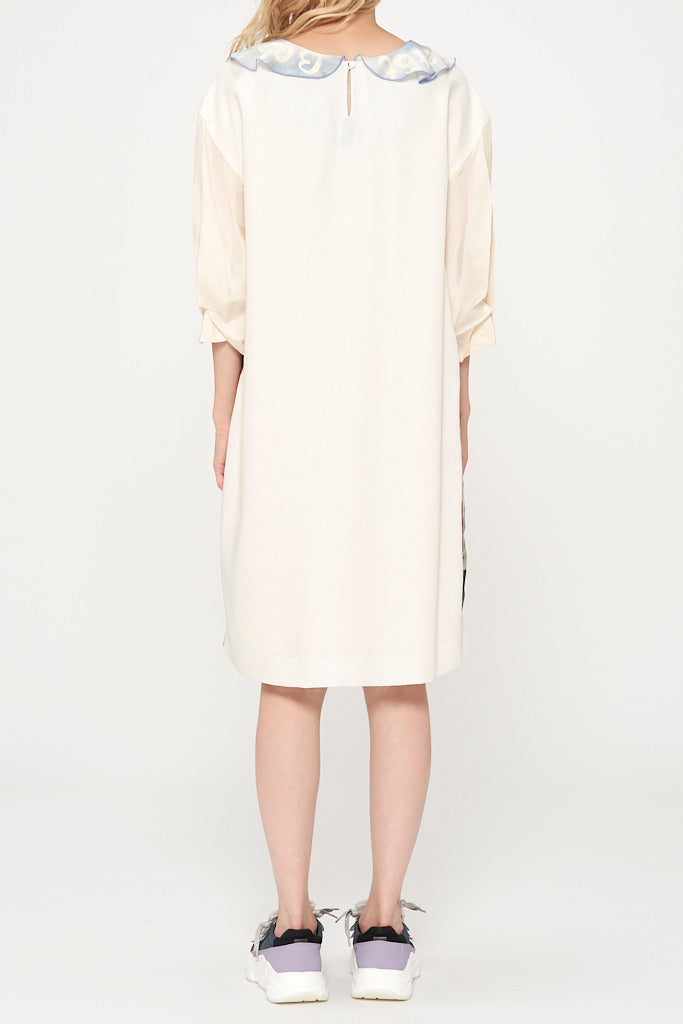 Paris Sky Silk & Wool Dress