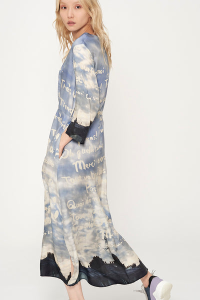 Paris Sky Silk Dress