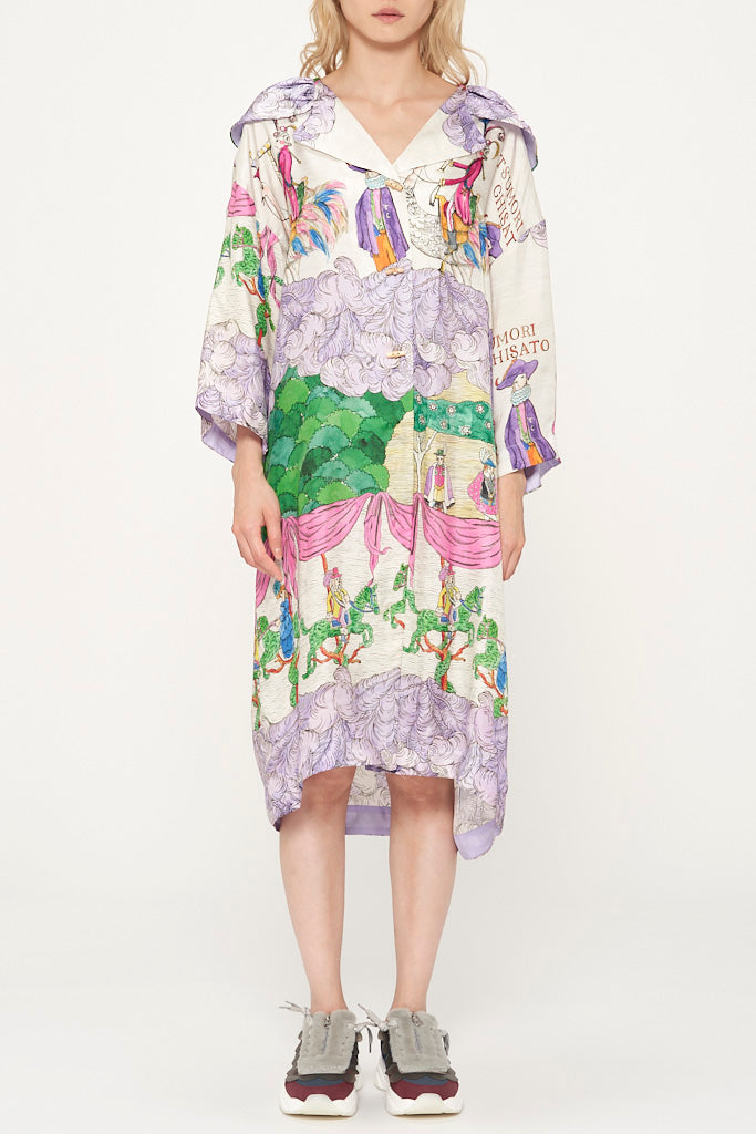 Noble Garden Silk Dress