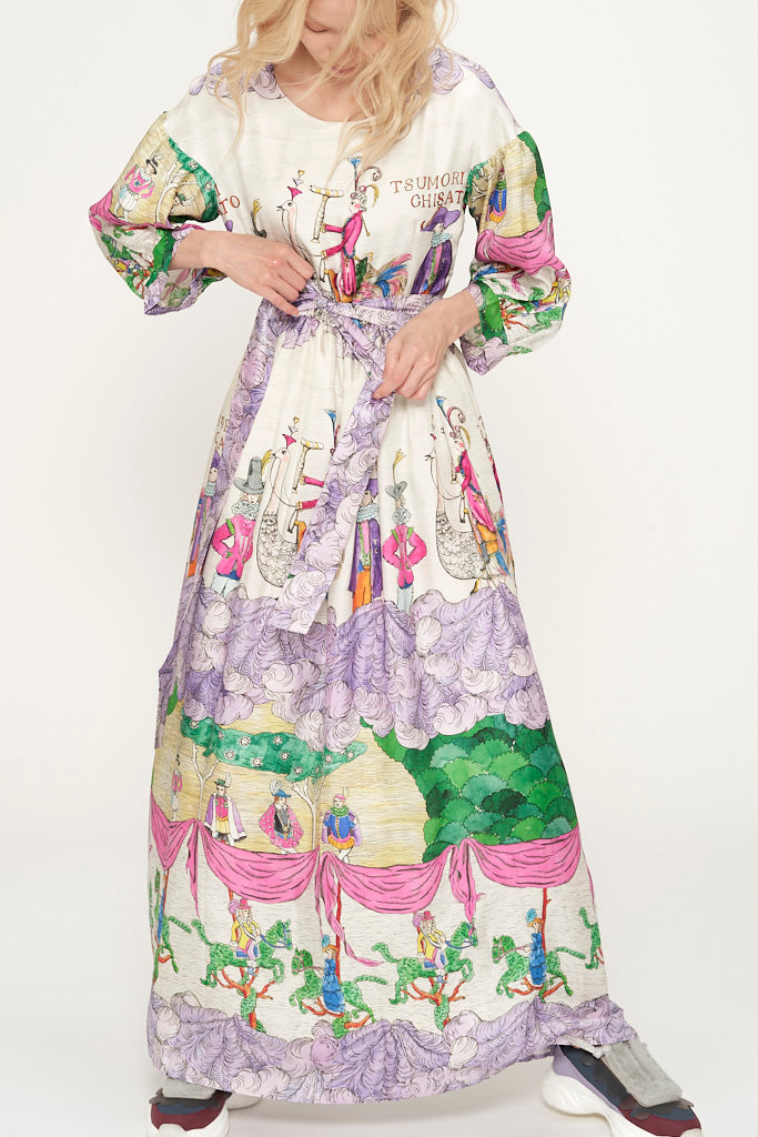 Noble Garden Long Silk Dress