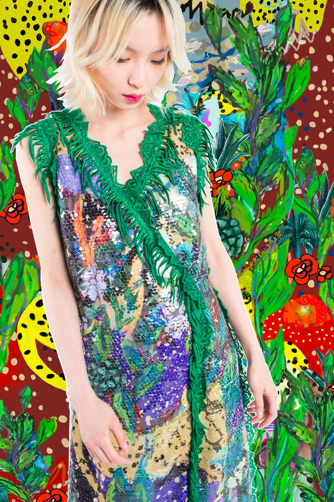 """Cuban Jungle"" Long Dress"