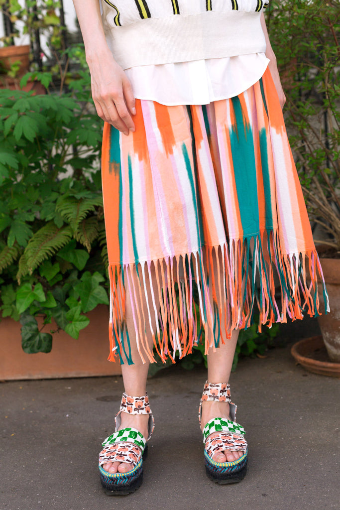 """Japanese Dry Stripe"" Skirt"