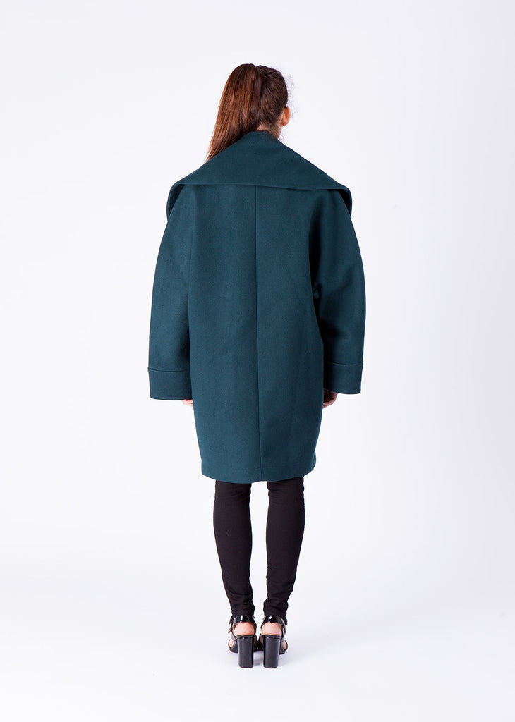 """Super Soft Melton"" Oversized Coat"