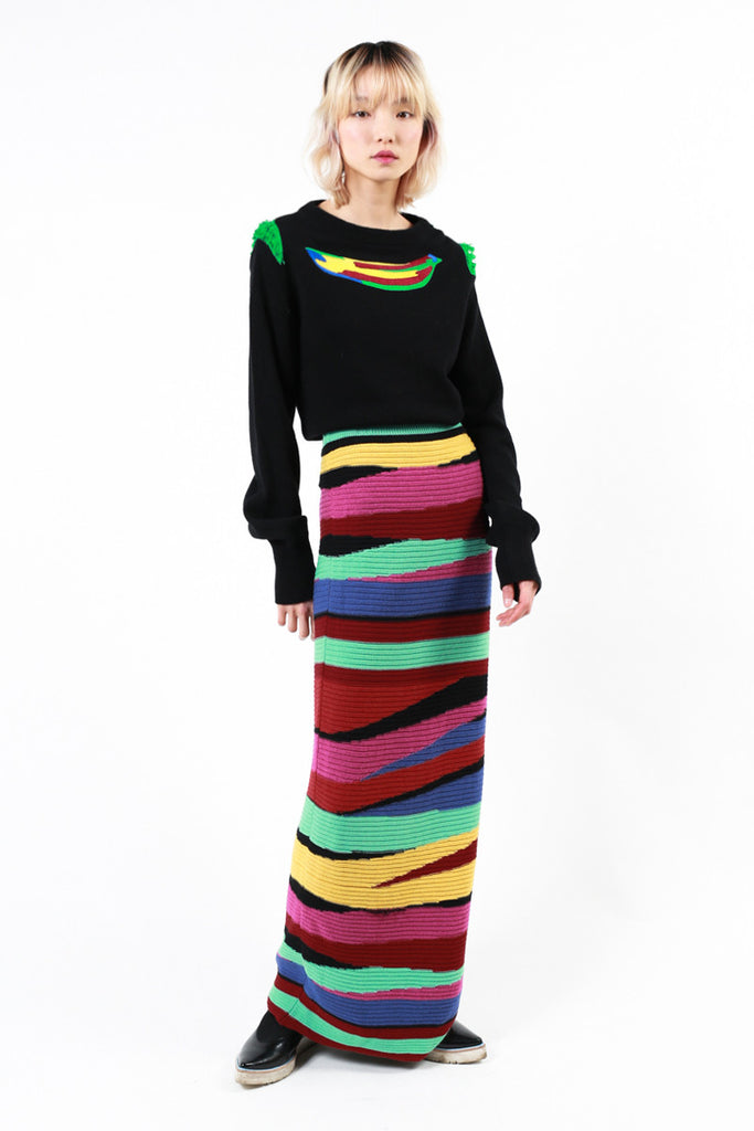 """Jungle Stripes"" Long Skirt"
