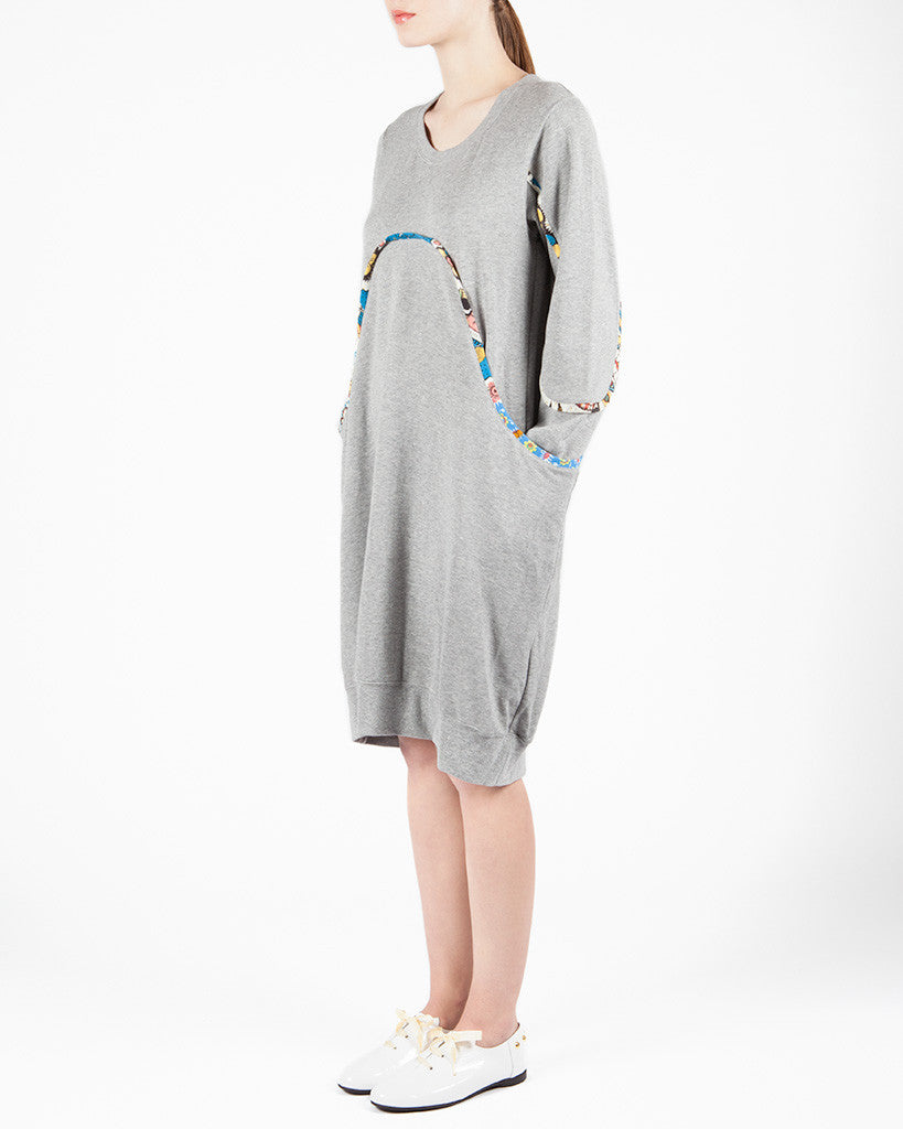 """Pirate "" Grey Dress"