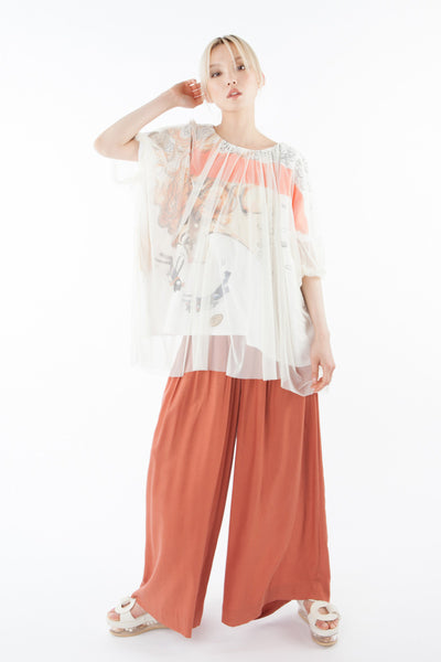 "Tulle blouse ""Under the sea"""