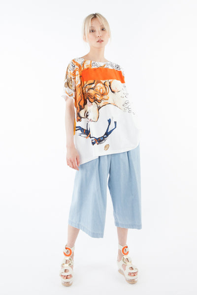 """Under the sea"" oversize t-shirt"