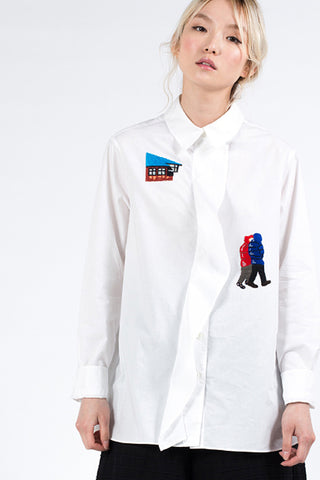 """Iceland"" Cotton Shirt"