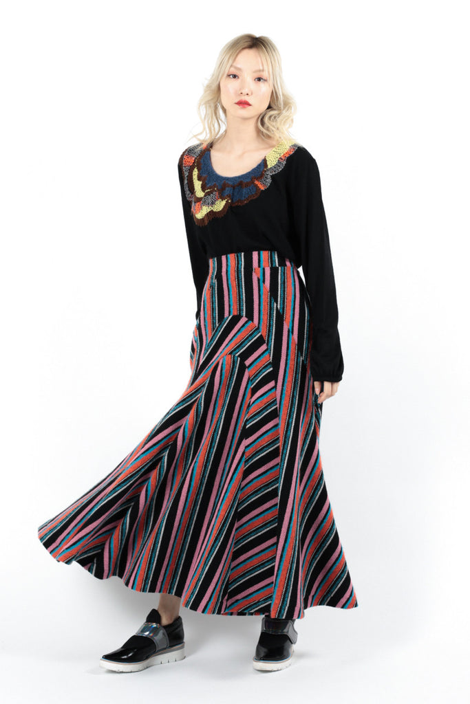 Inley Stripe Skirt