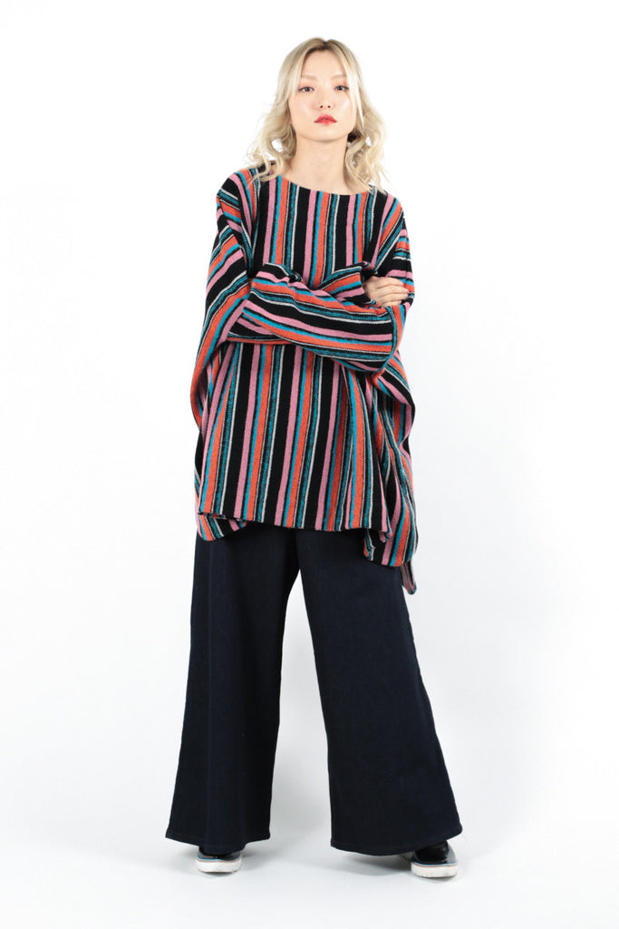 Inley Stripe Poncho