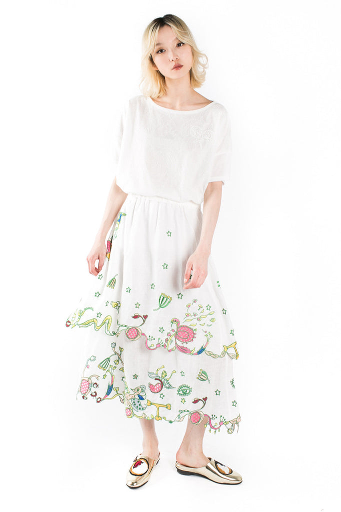 """Eye Flowers""Skirt"