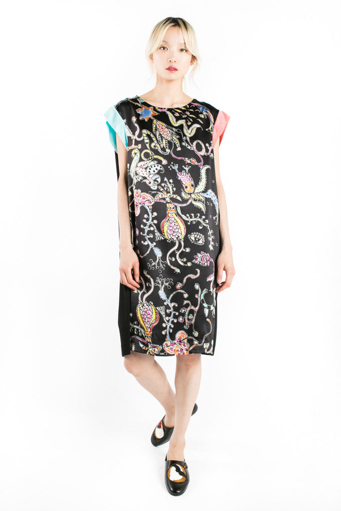 """Eye Flowers"" Shift Dress"