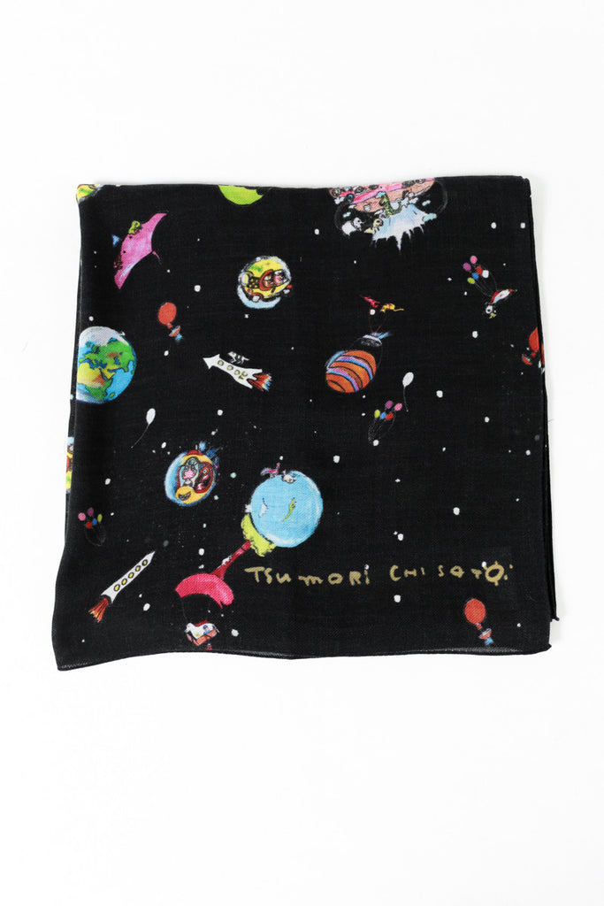 """Noah's Arch Space"" Print Scarf"