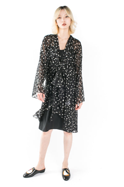 """Constellation"" sheer coat"