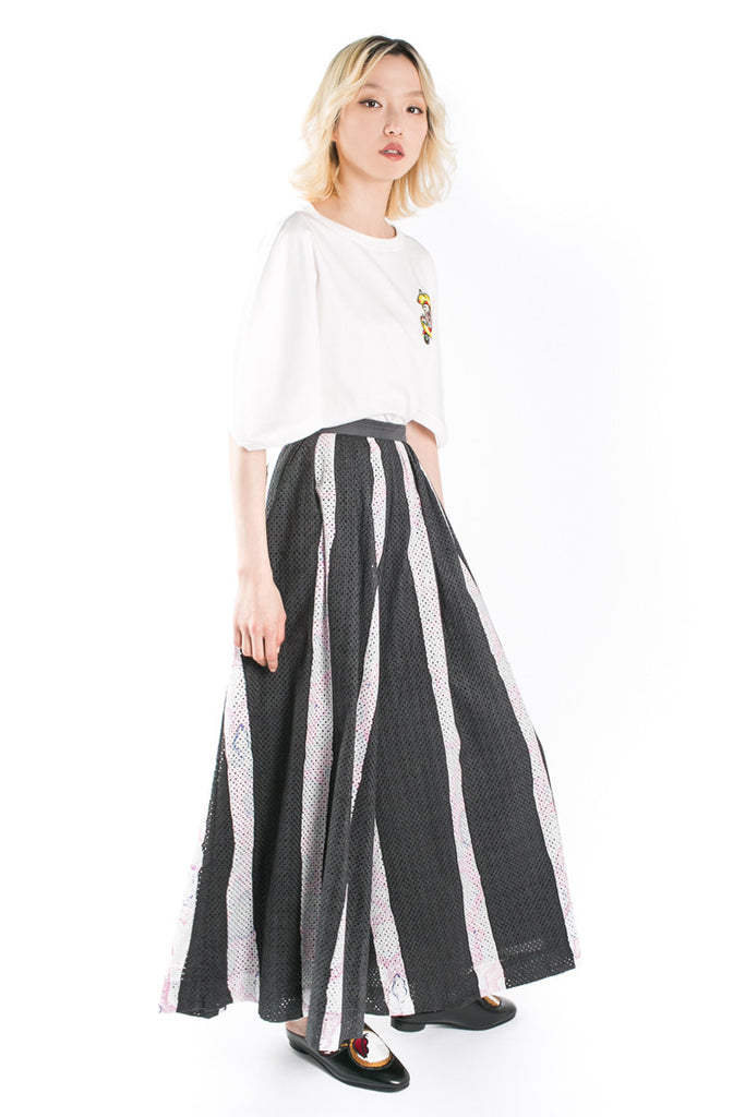 Graphic striped pants