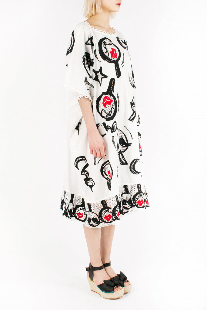 «Maracas Red Lips» Tunic Dress