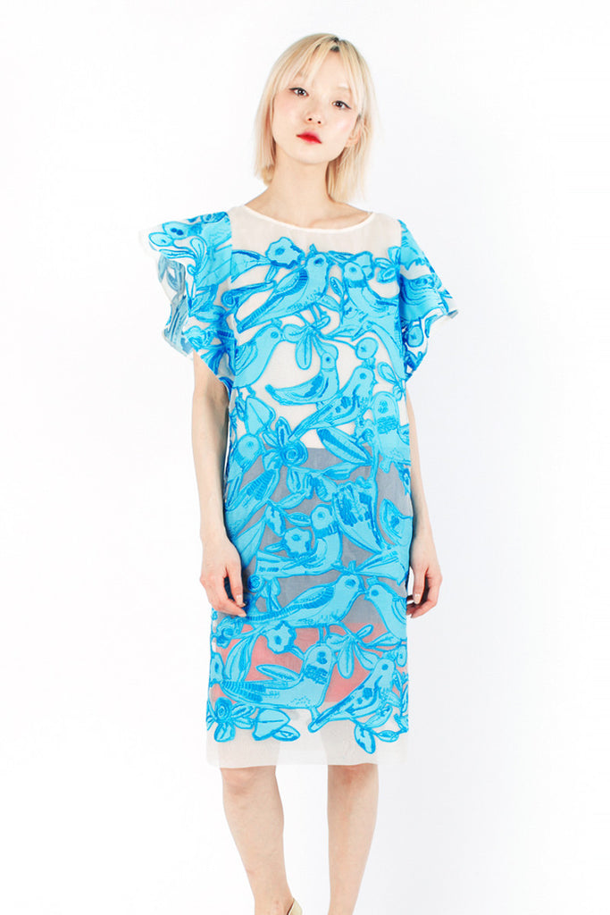 « Blue Love » Embroidered Dress