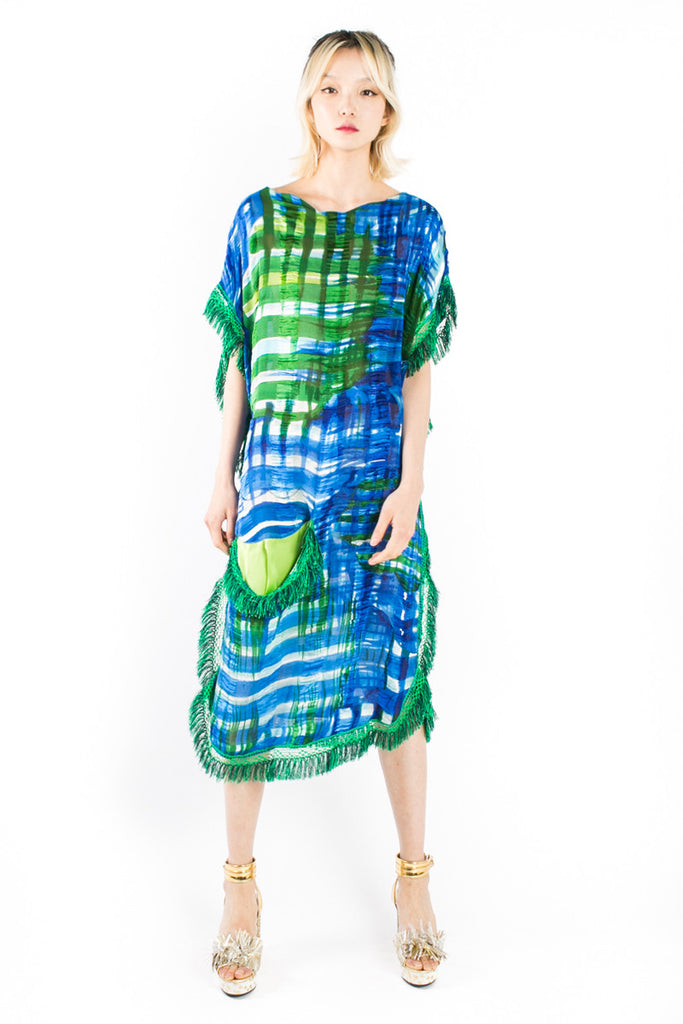 """Arty Vichy"" Shift Dress"