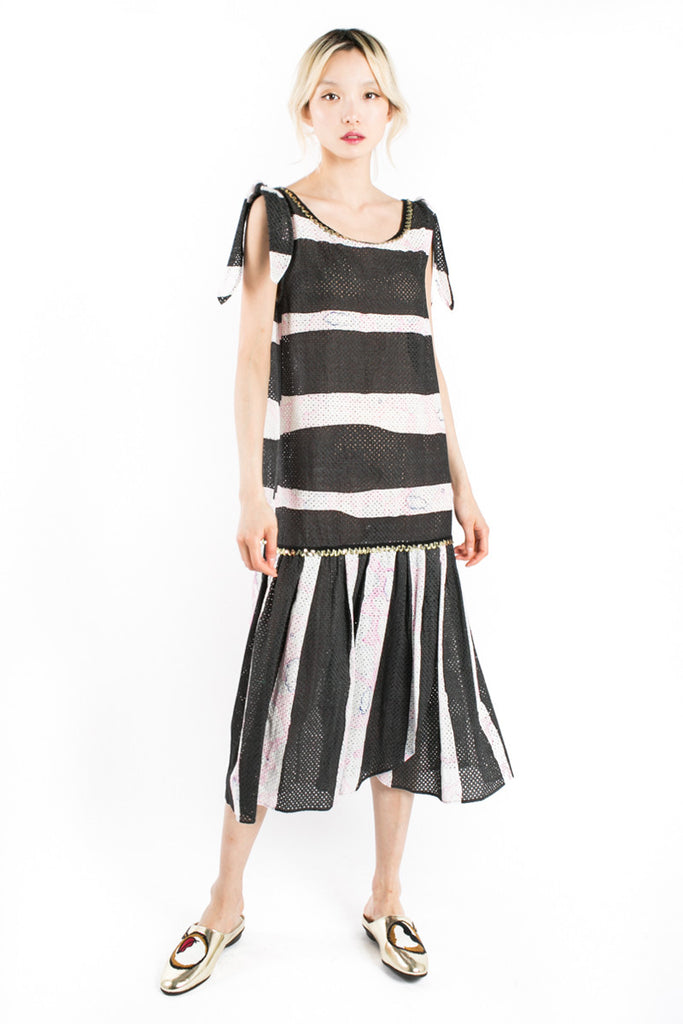 Graphic Striped Dress