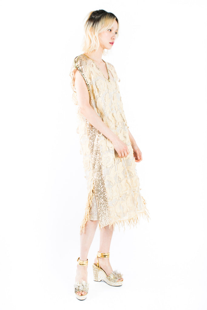 """Animal Sequins"" Evening Dress"