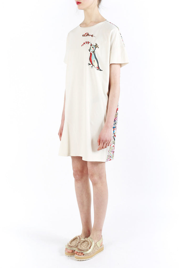 «Love Birds» Cotton Dress