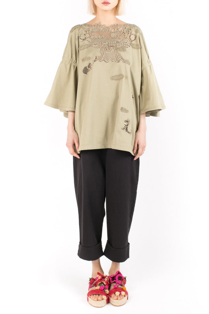 "Embroidered ""Noah's Arch"" Blouse"