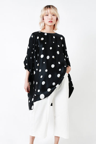 """White Dots"" Oversized Tunic"