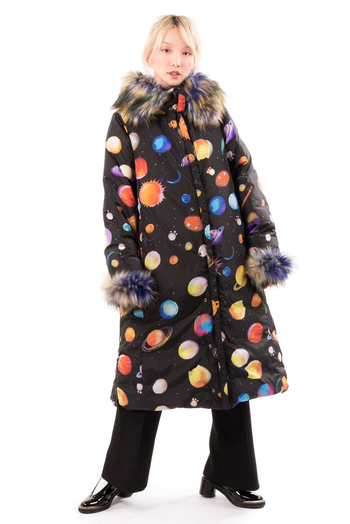 "Long ""Cosmic"" Quilted Coat"