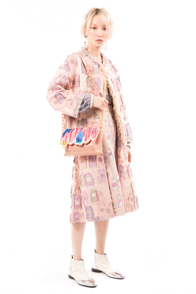 Colorful Tube Jacquard Jacket